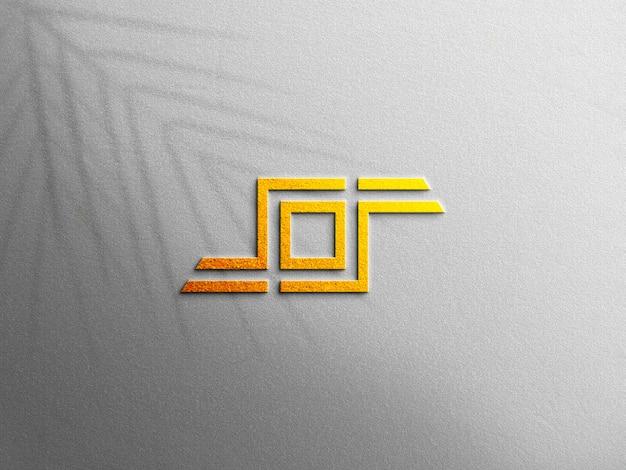 Maquete de logotipo 3d em relevo