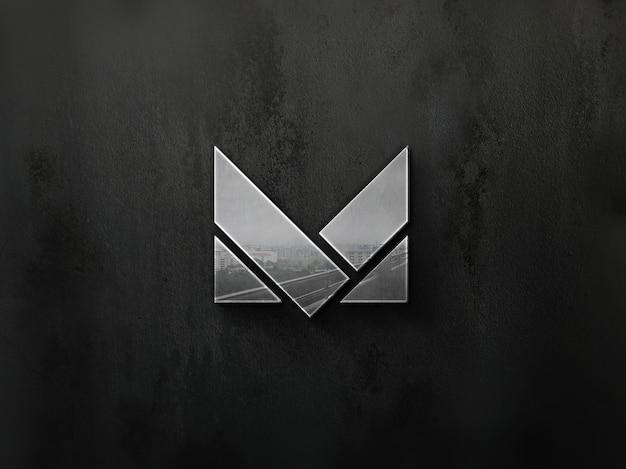 Maquete de logotipo 3d moderna realista