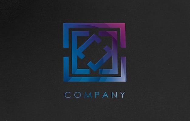 Maquete de logotipo 3d para empresa de negócios