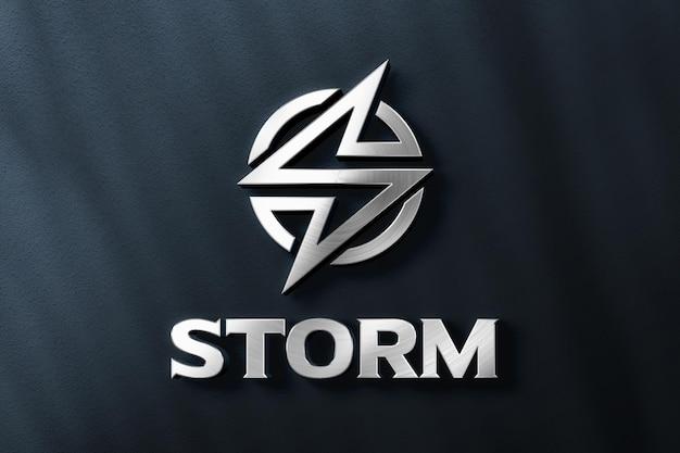 Maquete de logotipo 3d realista