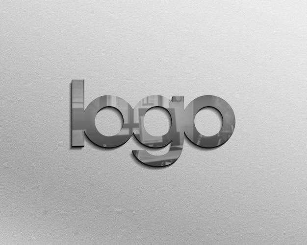 Maquete de logotipo 3d