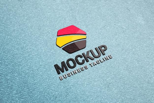 Maquete de logotipo colorido