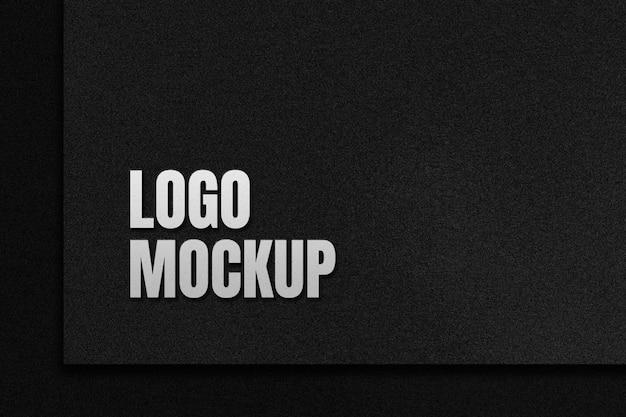 Maquete de logotipo com efeito 3d em fundo preto