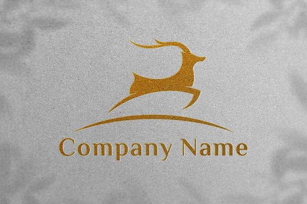 Maquete de logotipo com papel branco - maquete de logotipo de luxo