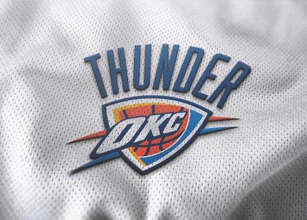 Maquete de logotipo de camisa de basquete