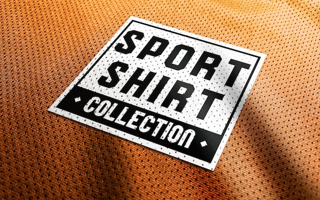 Maquete de logotipo de camisa esporte