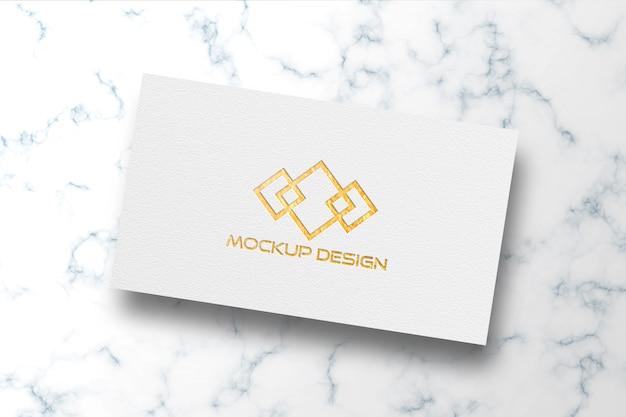 Maquete de logotipo de cartão branco