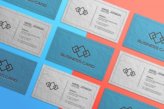 Maquete de logotipo de cartão de visita de vários estilos