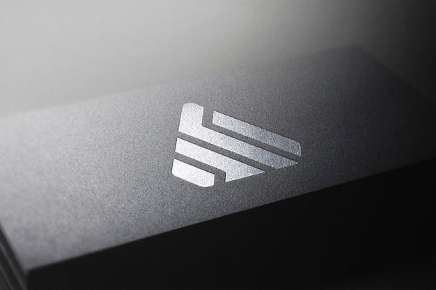 Maquete de logotipo de cartão preto