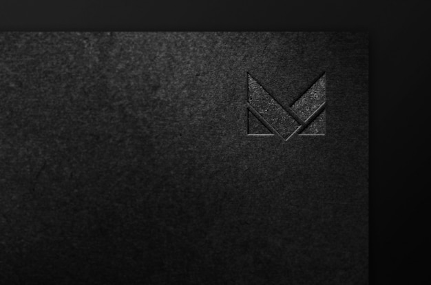 Maquete de logotipo de empresa de luxo