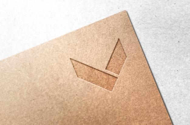 Maquete de logotipo de empresa de papelaria