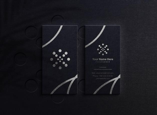 Maquete de logotipo de folha de luxo Psd Premium