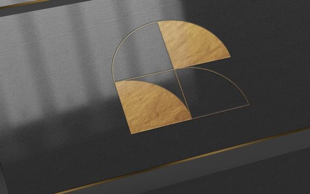 Maquete de logotipo de folha de ouro