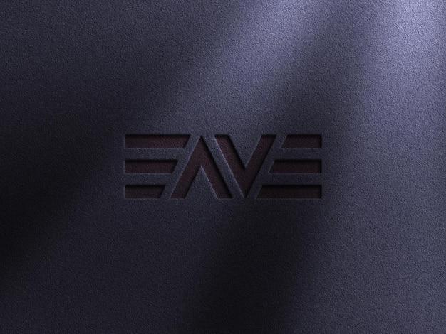 Maquete de logotipo de luxo com efeito tipografia