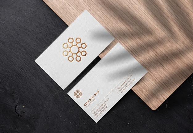 Maquete de logotipo de luxo em branco cartão de visita