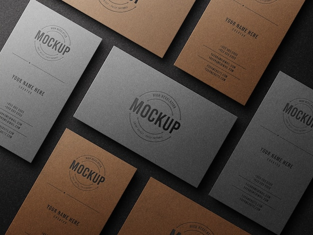 Maquete de logotipo de luxo em cartão de visita com efeito de impressão tipográfica