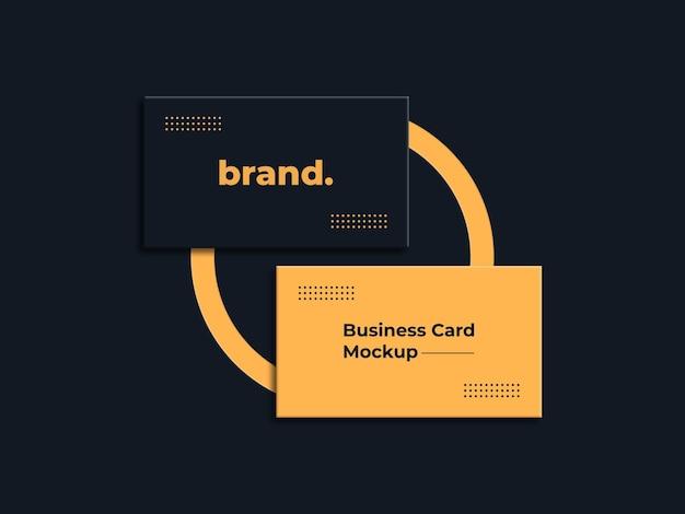 Maquete de logotipo de luxo em cartão de visita preto