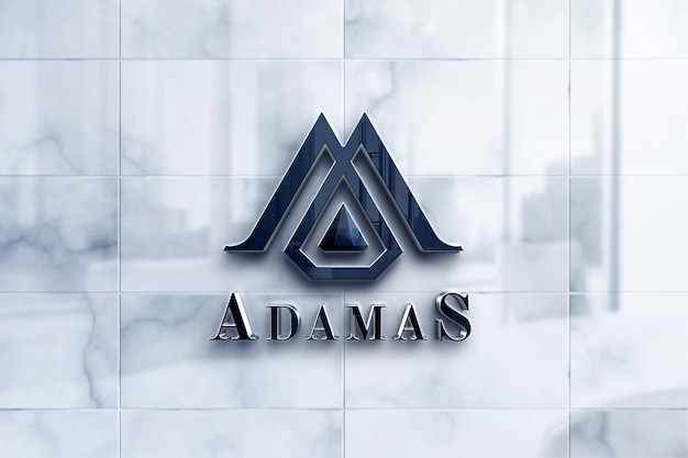 Maquete de logotipo de luxo em mármore