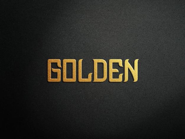 Maquete de logotipo de luxo em ouro e efeito de relevo em ouro rosa