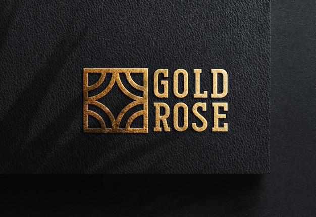 Maquete de logotipo de luxo em papel preto