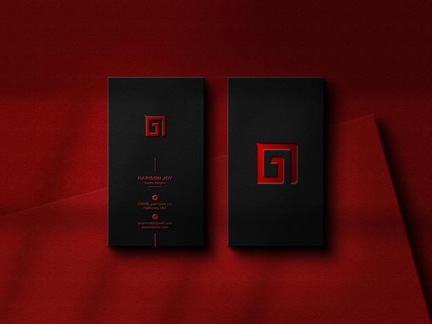 Maquete de logotipo de luxo em preto business