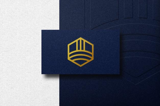 Maquete de logotipo de luxo no carro de negócios