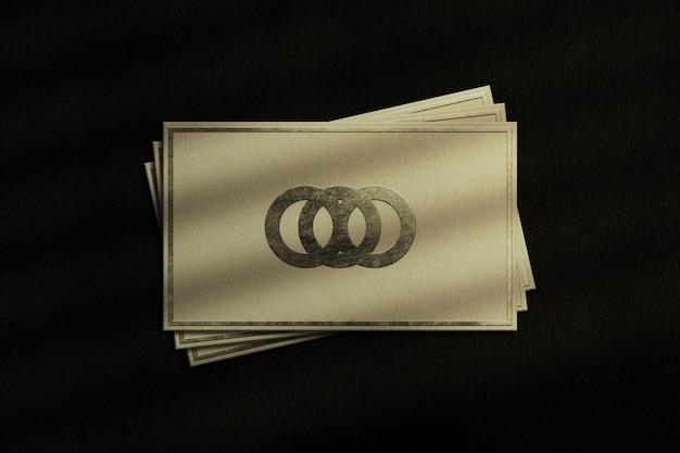 Maquete de logotipo de luxo no cartão de visita