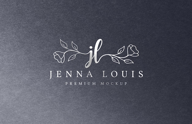 Maquete de logotipo de luxo prata