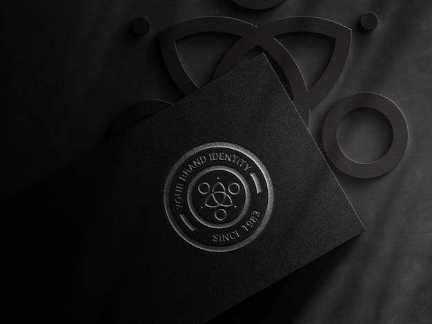 Maquete de logotipo de luxo
