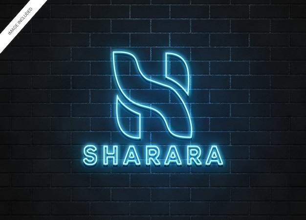 Maquete de logotipo de néon