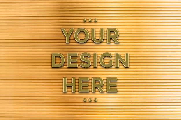 Maquete de logotipo de ouro