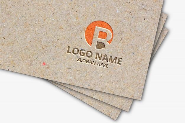 Maquete de logotipo de papel pardo
