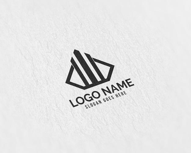 Maquete de logotipo de papel realista 3d moderno