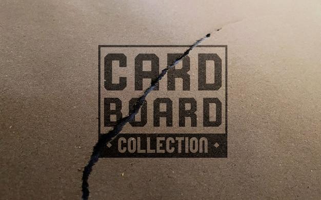 Maquete de logotipo de papelão esfarrapado