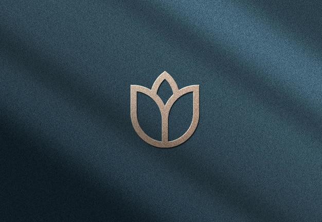 Maquete de logotipo de parede com sobreposição de sombra