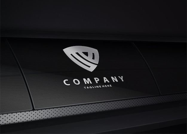 Maquete de logotipo de tecnologia de luxo