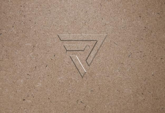 Maquete de logotipo de textura de papel reciclado