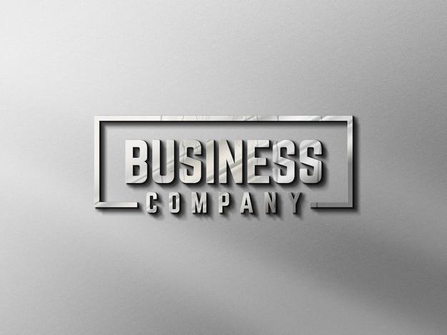 Maquete de logotipo dinding 3d