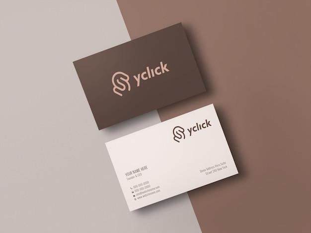 Maquete de logotipo elegante e moderno no cartão de visita