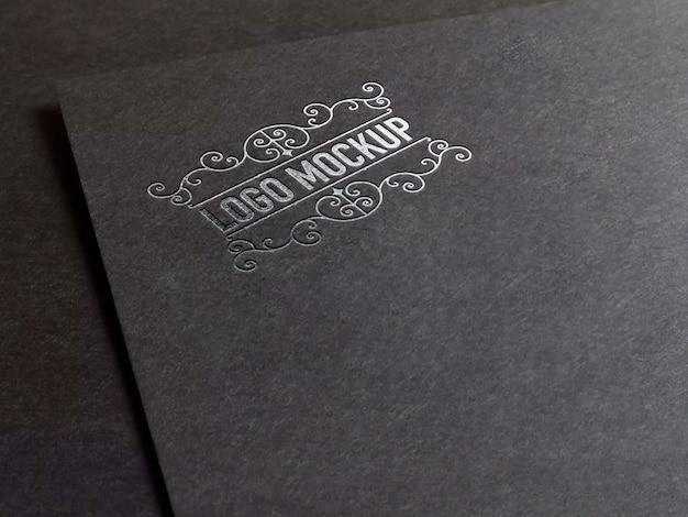 Maquete de logotipo elegante