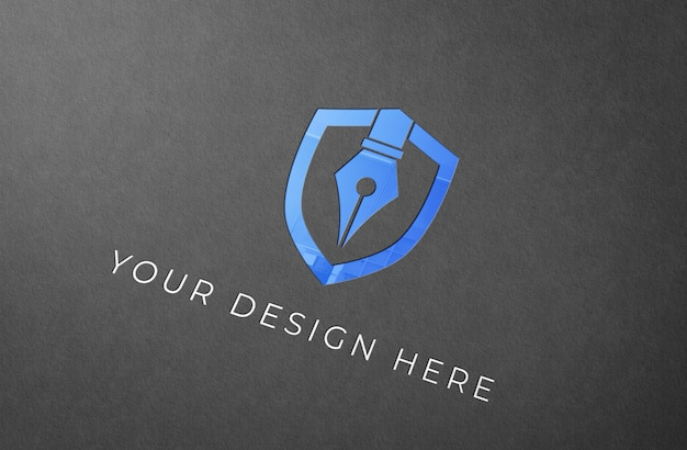 Maquete de logotipo em cor de perspectiva
