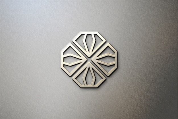 Maquete de logotipo em couro