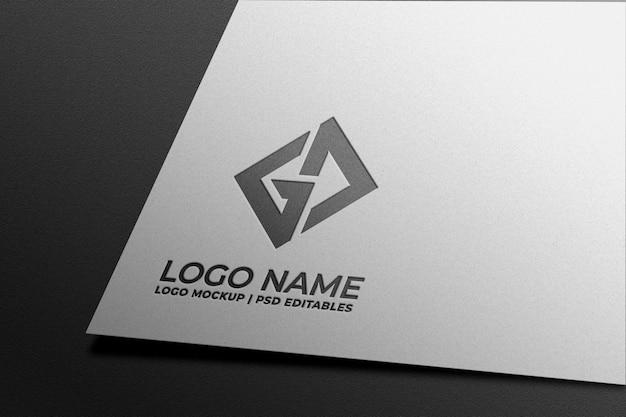 Maquete de logotipo em papel branco Psd Premium