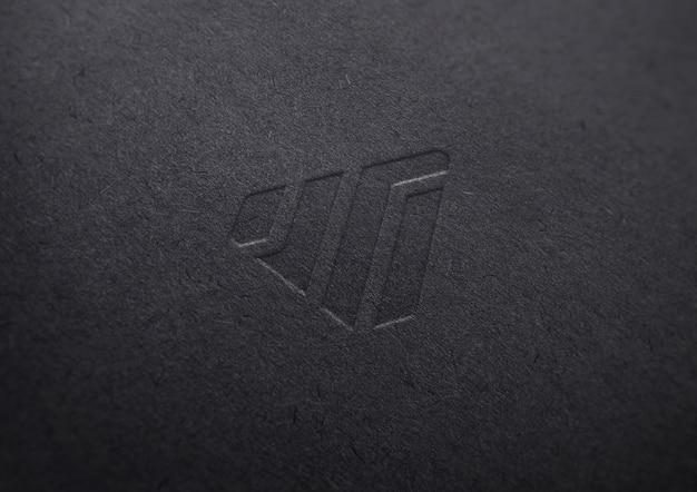 Maquete de logotipo em papel preto