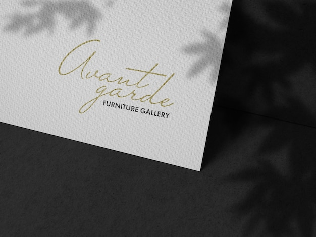 Maquete de logotipo em papel tecido
