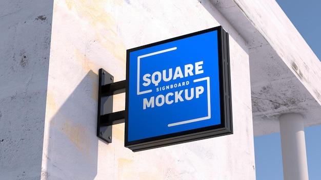 Maquete de logotipo em quadro indicador quadrado