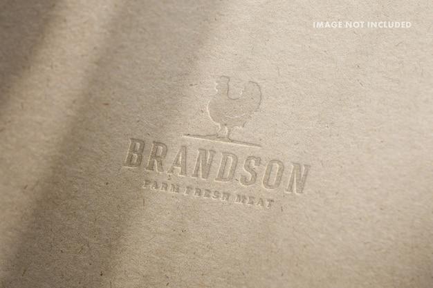 Maquete de logotipo em relevo de papel