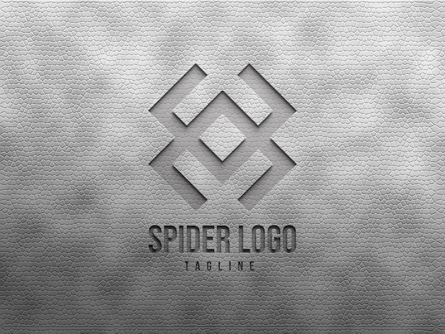 Maquete de logotipo em relevo e deboss