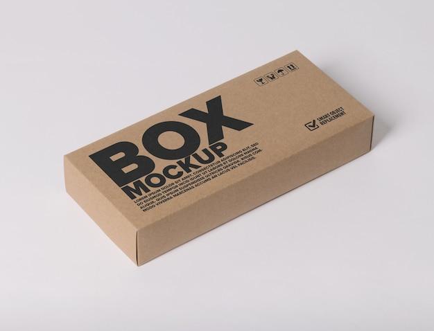 Maquete de logotipo mínimo na caixa