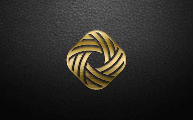 Maquete de logotipo moderno 3d